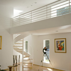 Contemporary Staircase by mark beck associates- architects, LLC