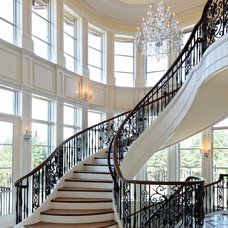 Traditional Staircase by Dominion Electric Supply Co.