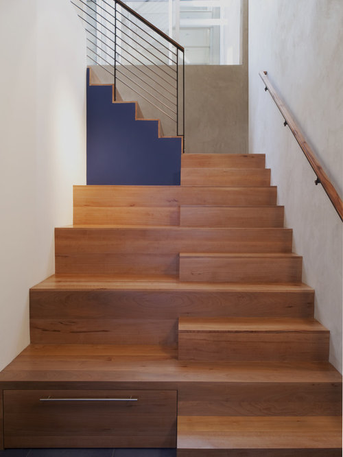 Perfect Modern Wooden Staircase Idea In San Francisco