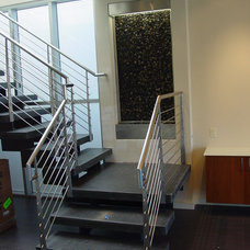 Contemporary Staircase by Brent Sears Architect