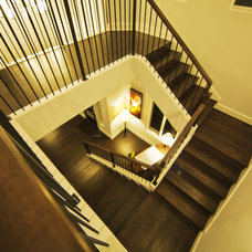 Contemporary Staircase by JMC Designs llc