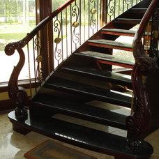 Mediterranean Staircase by JTR  Contractors Inc.