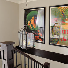 Eclectic Staircase by Lisa Wrixon Interior Design