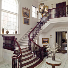 Traditional Staircase by Kim Doggett Architects