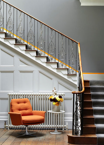 Contemporary Staircase by The Little Greene Paint Company