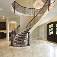 Mediterranean Staircase by LA Design Build