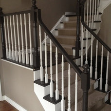 Traditional Staircase by Aristocrat Floors