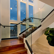 Contemporary Staircase by R Johnston Interiors
