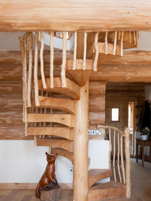 Staircase design ideas renovations photos for Fotos de escaleras rusticas