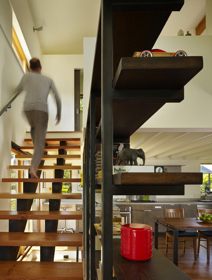 modern staircase by chadbourne + doss architects