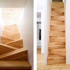Contemporary Staircase by ROYO architects