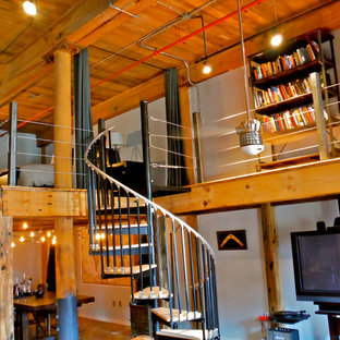 Loft addition with spiral staircase