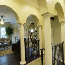 Mediterranean Staircase by Gritton & Associates Architects