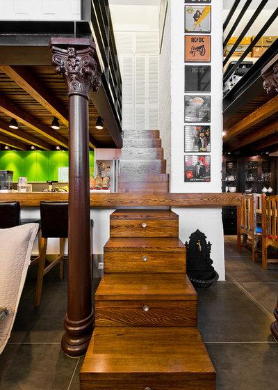 Eclectic Staircase by Dalius & Greta Design