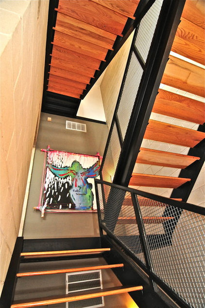 contemporary staircase by Valerie McCaskill Dickman