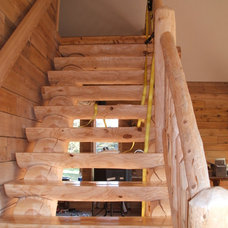 Traditional Staircase by Sanford Customs