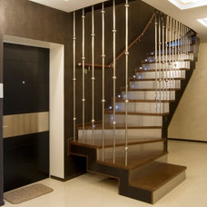 Contemporary Staircase by Lompier Interior Group