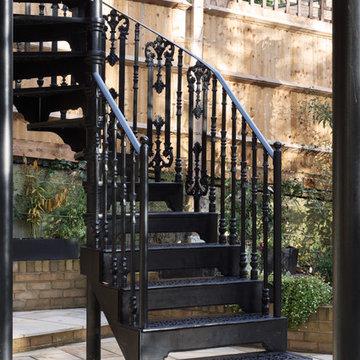 London Garden - Metal Balcony and Staircase