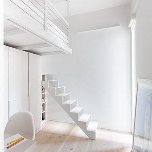 Inspiration pour un escalier sans contremarche droit nordique.