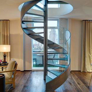 Staircase - contemporary spiral open staircase idea in London
