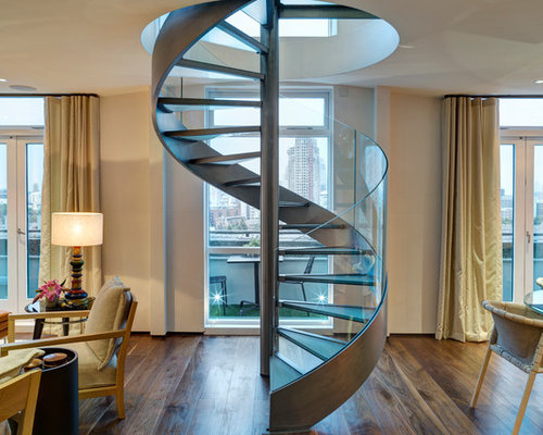 Contemporary Straight Open Staircase Idea In London