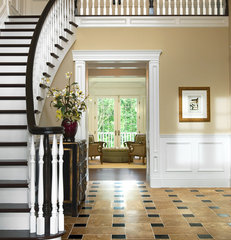 traditional staircase by Alexander Johnson Photography