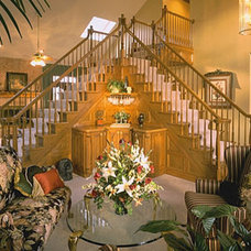 Traditional Staircase by Loren  Reid Seaman