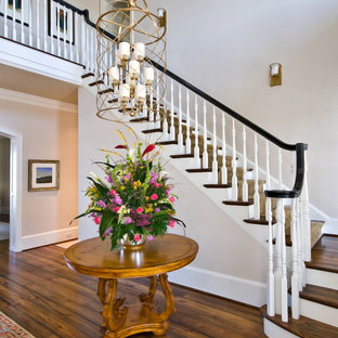 Inspiration for a timeless staircase remodel in Charleston