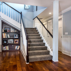 Traditional Staircase by Studio S Squared Architecture, Inc.