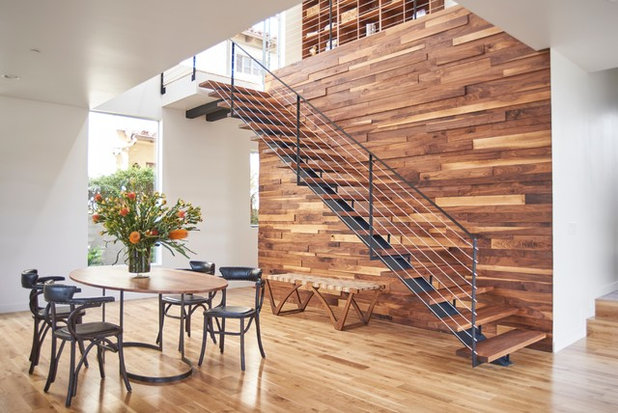 Modern Staircase by Shelby Wood Design