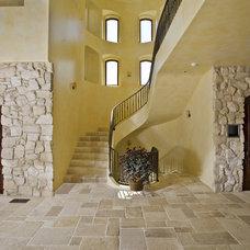 Mediterranean Staircase by Conrado - Home Builders