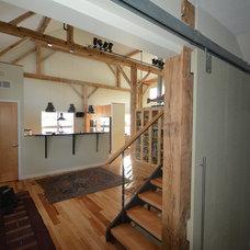 Farmhouse Staircase by Jeffrey Klum, Architect