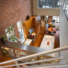 Contemporary Staircase by Freyer Collaborative Architects