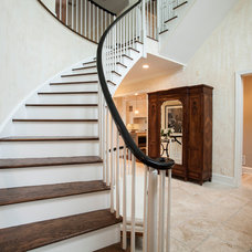 Traditional Staircase by Rudloff Custom Builders