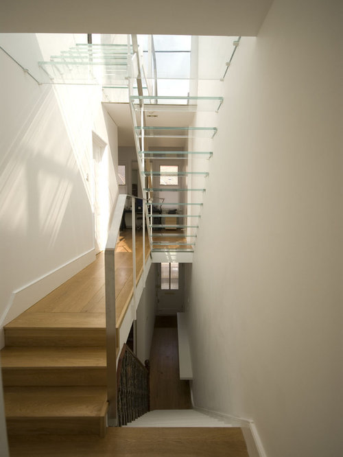 Lovely Trendy Floating Staircase Photo In London