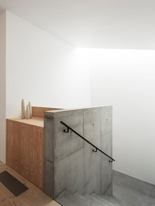 Example Of A Minimalist Concrete Staircase Design In London