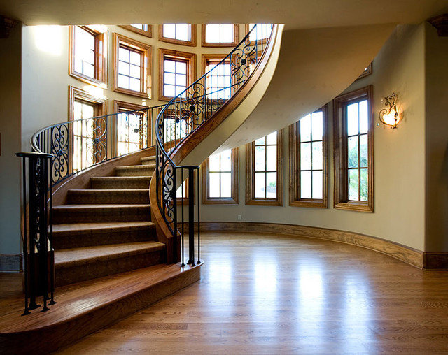 Traditional Staircase by Eppright Custom Homes