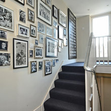 Wall by stairs