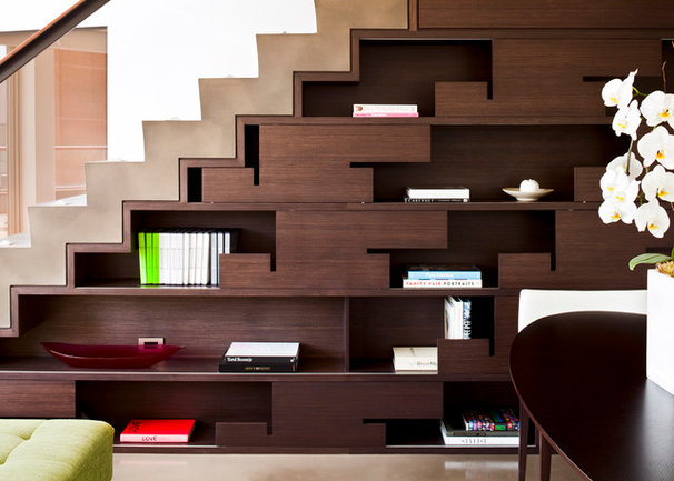 Contemporary Staircase by Kerr Construction