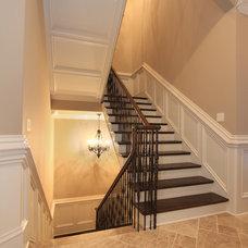 Traditional Staircase by Alex Custom Homes, LLC