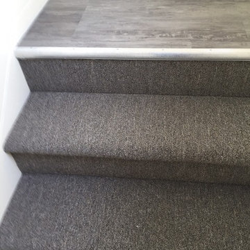 LVT Landing and Carpeted Stairs
