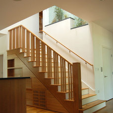 Traditional Staircase by Watershed Architects