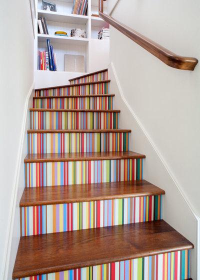 16 ideen wie sie treppen streichen und treppenstufen - Deko treppenaufgang ...