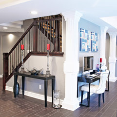 contemporary staircase by M.J. Whelan Construction