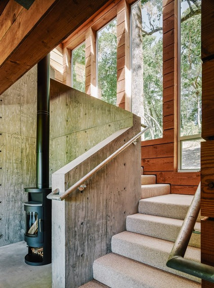 Contemporary Staircase by Hudson Street Design