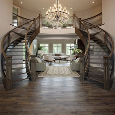 Traditional Staircase by A Collaborative Design Group