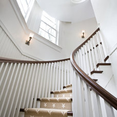 traditional staircase by A. Tate Hilliard, Architect/Builder