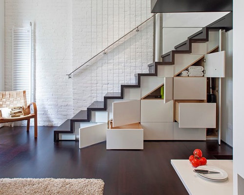 houzz industrial staircase design ideas remodel pictures - Staircase Design Ideas