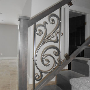 Maple Glass and Metal Handrail