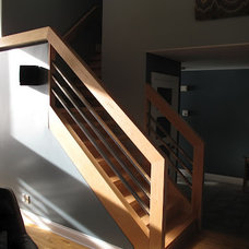Contemporary Staircase by Streamline Construction